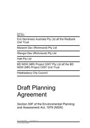 Draft Voluntary Planning Agreement - Hawkesbury City Council