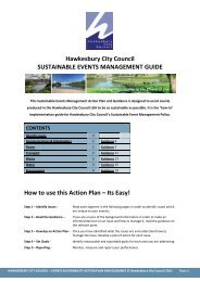 Sustainable Events Management Action Plan and Guide