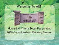 Scouts in Camp - Hawkeye Area Council