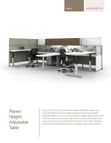 Planes Height-Adjustable Tables Brochure - Haworth