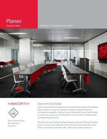 Planes Product Sheet - Haworth