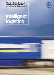 intelligent logistics - Hayes Anderson Limited