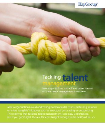 talent Tackling management - Hay Group