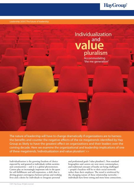 a PDF summary of the individualism and value ... - Hay Group