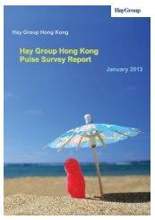 Hay Group Hong Kong Pulse Survey Report