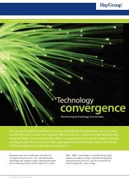 a PDF summary of the technology convergence - Hay Group