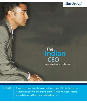 The Indian CEO: a portrait of excellence - Hay Group