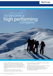 What is takes to become a high performing company - Hay Group