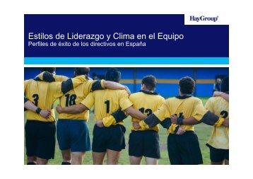 Estilos de Liderazgo y Clima en el Equipo - Hay Group