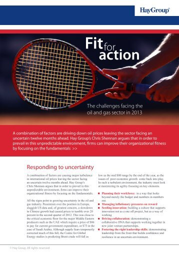 Fit for action - Hay Group