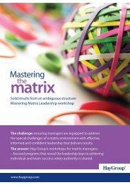 Mastering Matrix Leadership - Hay Group