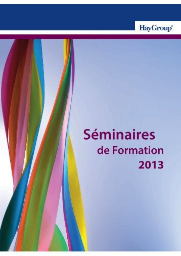 Catalogue des formations 2013 - Hay Group