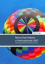Banca Dati Italiana e Internazionale 2007 - Hay Group