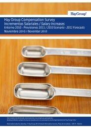 Hay Group Compensation Survey Incrementos Salariales / Salary ...