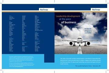download the program brochure - Hay Group