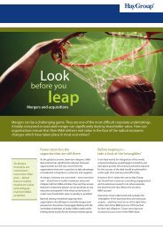 look before you leap summary.indd - Hay Group