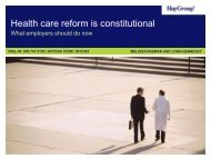 Health care reform is constitutional - Hay Group