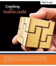 Cracking the matrix code - Hay Group