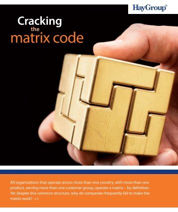 Cracking the matrix code - Hay Group