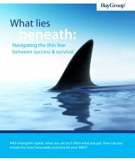 What lies beneath - Hay Group