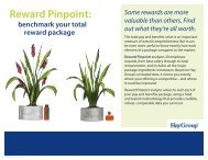 Reward Pinpoint: - Hay Group