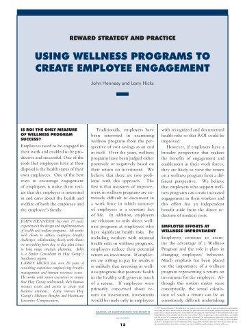 how to create a wellness program