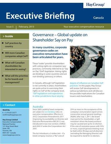 Executive Briefing Canada - Hay Group