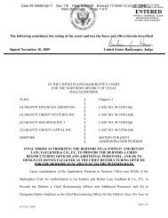 Final Order Authorizing the Debtors - Haynes and Boone, LLP