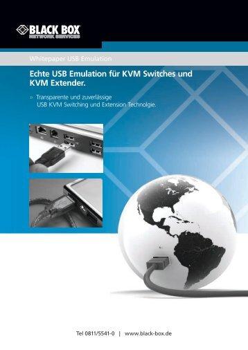 Echte USB Emulation für KVM Switches und KVM Extender.