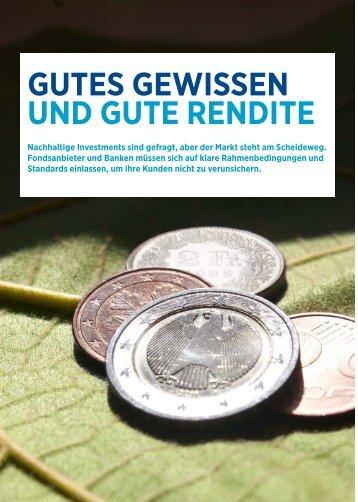 GUTES GEWISSEN UND GUTE RENDITE - HaysWorld