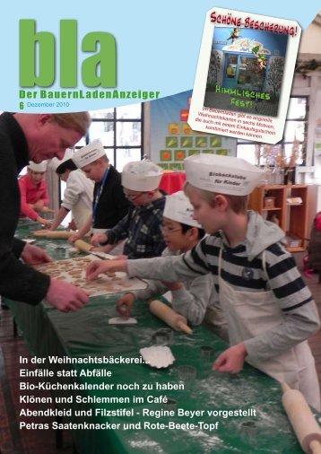 In der Weihnachtsbäckerei... Einfälle statt Abfälle Bio ...