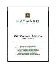 City Council Agenda June 12, 2012 - City of HAYWARD