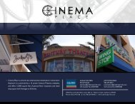 Cinema Place is a brand new entertainment ... - City of HAYWARD