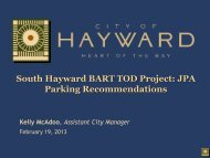 PowerPoint Template - City of HAYWARD