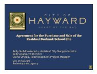 Agreement for the Purchase and Sale of the ... - City of HAYWARD