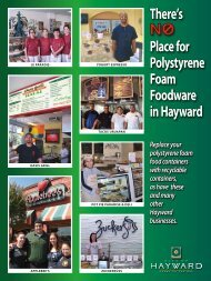 There's Place for Polystyrene Foam Foodware ... - City of HAYWARD
