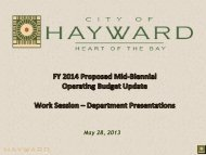 Item #1 FY 2014 Proposed Mid-Biennial Budget ... - City of HAYWARD
