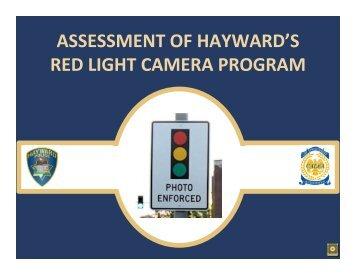 Item #5 Red Light Camera Program - City of HAYWARD