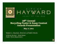 Recycling Poster and Essay Contest Awards