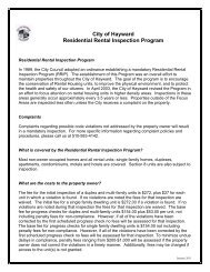 City of Hayward Residential Rental Inspection Program