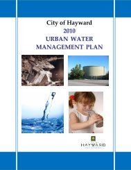 2010 Urban Water Management Plan - City of HAYWARD