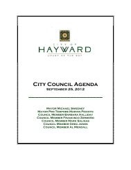 September 25, 2012 - City of HAYWARD