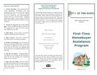 First-Time Homebuyer Assistance Program - City of HAYWARD