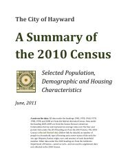 A Summary of the 2010 Census - City of HAYWARD
