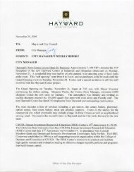 Weekly Report 11/25/09 - City of HAYWARD