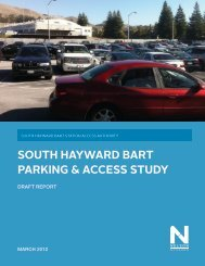 south hayward bart parking & access study - City of HAYWARD