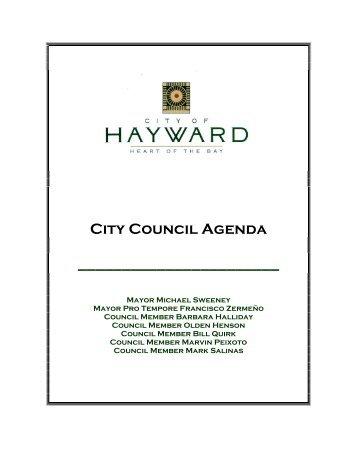 City Council Agenda - City of HAYWARD