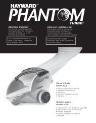 Hayward Phantom Turbo - Owner's Guide
