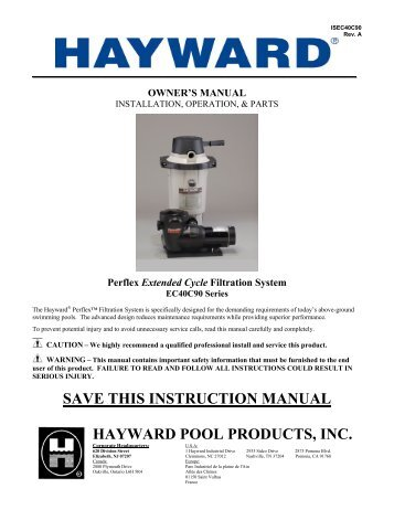 Ec40c90 Series Hayward