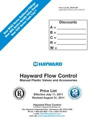 1//2 Size 1//2 Size Hayward Industries Inc. Hayward YS10050T Series YS Y-Strainer Threaded End PVC with FPM Seal